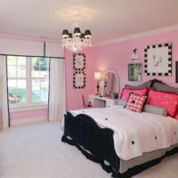 Roze slaapkamer ontwerpen.